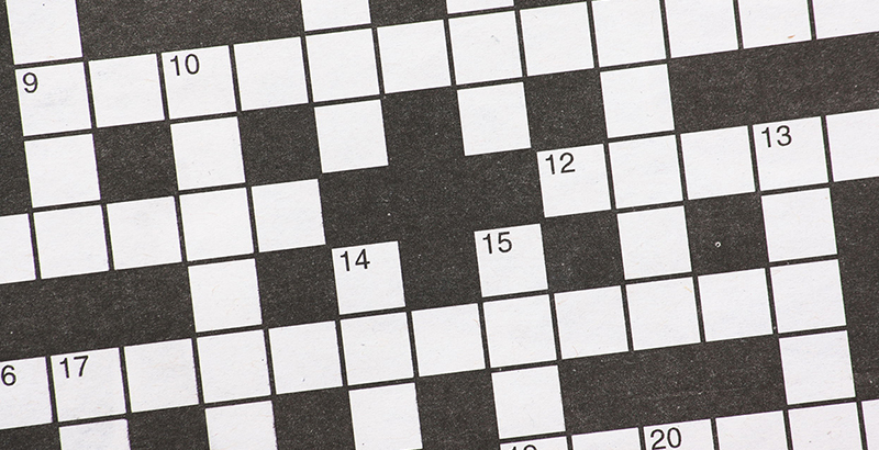 29843372 - blank newspaper crossword puzzle with numbered black and white squares