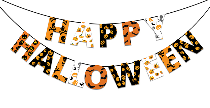 44147512 - halloween orange and black banner with greetings happy halloween